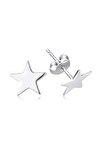 Minimal Geometrik Yıldız Gümüş Çivi küpe KP0011