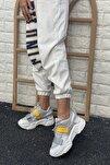 Kadın Beyaz Cırtlı Sneakers
