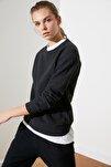 Antrasit Selanik Basic Örme Sweatshirt TWOAW21SW0703
