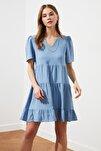 Açık Mavi Geniş Kesim Elbise TWOSS20EL0400