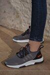 Kadın Gri Günlük Ortopedik Sneaker