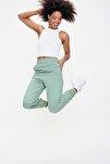 Kadın Mint Paça Lastikli Jogger Eşofman Altı