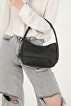 Kadın  Siyah Saten Baget Çanta