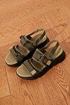 Haki Kadın Sandalet TAKSS21SD0024