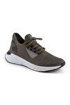 Unisex Haki Beyaz Taban Spor Ayakkabı 132