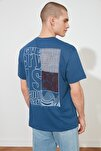 Indigo Erkek Geniş Kesim Fit Baskılı T-Shirt TMNSS20TS0656