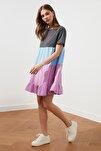 Antrasit Renk Bloklu Örme Elbise TWOSS20EL1638