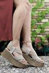 Kadın Ten Yüksek Topuklu Sandalet 0012460