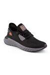 132 Erkek Siyah Renk Füme Taban Turuncu Detay Spor Ayakkabı