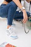 Beyaz Mavi Spor Ayakkabı