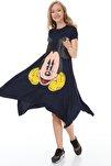 Laciver Mickey Baskılı Elbise