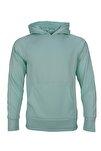 Yeşil Spor Sweatshirt Basic Fleece Hoodie
