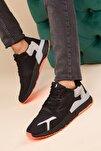Siyah-Buz-Orange Erkek Sneaker 3034