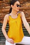 Kadın Sarı Etnik Askılı Bluz Arm-20Y001041
