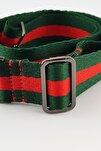 Yeşil Kırmızı Şerit Çanta & Cep Telefonu Askısı Black
