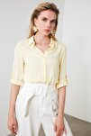 Sarı Basic Gömlek TWOSS19ST0226
