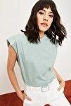 Kadın Vatkalı Penye Basic T-shirt