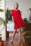 Kırmızı Geniş Kesim Elbise TWOSS20EL0404