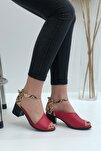 Kadın Kırmızı Madrid Topuklu Sandalet