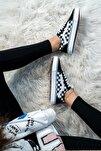 Bay & Bayan Siyah Damalı Spor Ayakkabı