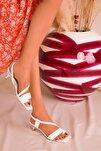 Beyaz Kadın Klasik Topuklu Ayakkabı 15965