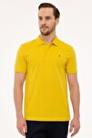 Erkek Safran Slim Fit Polo Yaka T-Shirt