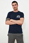 Lacivert Erkek Basic Slim Fit T-Shirt TMNSS20TS0080