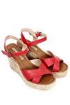 Kırmızı Kadın Sandalet 40533