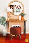 Riva Orange Masif Ahşap Ayaklı Puf Gold