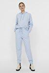 Kadın Cashmere Blue Paçası Lastikli Yüksek Bel Jogger Pantolon 10251096 VMOCTAVIA