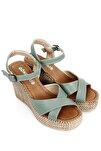 Mint Yeşili Kadın Sandalet 40533