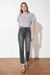 Antrasit Yüksek Bel Bootcut Jeans TWOSS21JE0035
