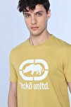 LOGO TEE Sarı Erkek Bisiklet Yaka Tshirt