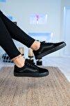 Unisex Siyah Siyah Spor Ayakkabı