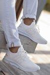Unisex Beyaz Günlük Ortopedik Sneaker D053