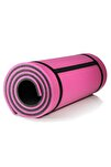 16 Mm Pilates Kamp Matı Pembe Siyah Taşıma Askılı