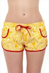 Kadın Sarı Şort 67801