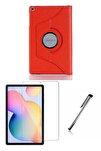 Samsung Galaxy Tab S6 Lite P610 Kırmızı Dönerli Tablet Kılıf Seti (10.4 Inç)