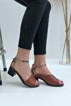 Kadın Taba Madrid Topuklu Sandal