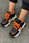 Kadın Siyah Yüksek Taban Sneaker