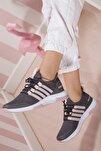 Kadın Pembe Günlük Ortopedik Sneaker D053