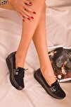 Platin-Siyah  Kadın Casual Ayakkabı 15429