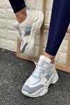 Kadın Mavi Yüksek Taban Sneaker