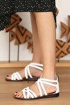 Kadın Beyaz Sandalet