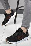 Unisex Siyah Rahat Taban Sneaker