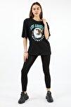 Kadın Siyah Los Angeles T-shirt