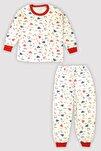 4 Mevsim Uniseks Çocuk Baskılı Uk Pijama Takım 9546