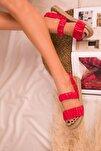 Kırmızı Kadın Sandalet 16057
