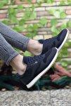 Lacivert Beyaz Krep Unisex Sneaker 00121057