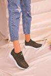 Yeşil Kadın Sneaker 15226